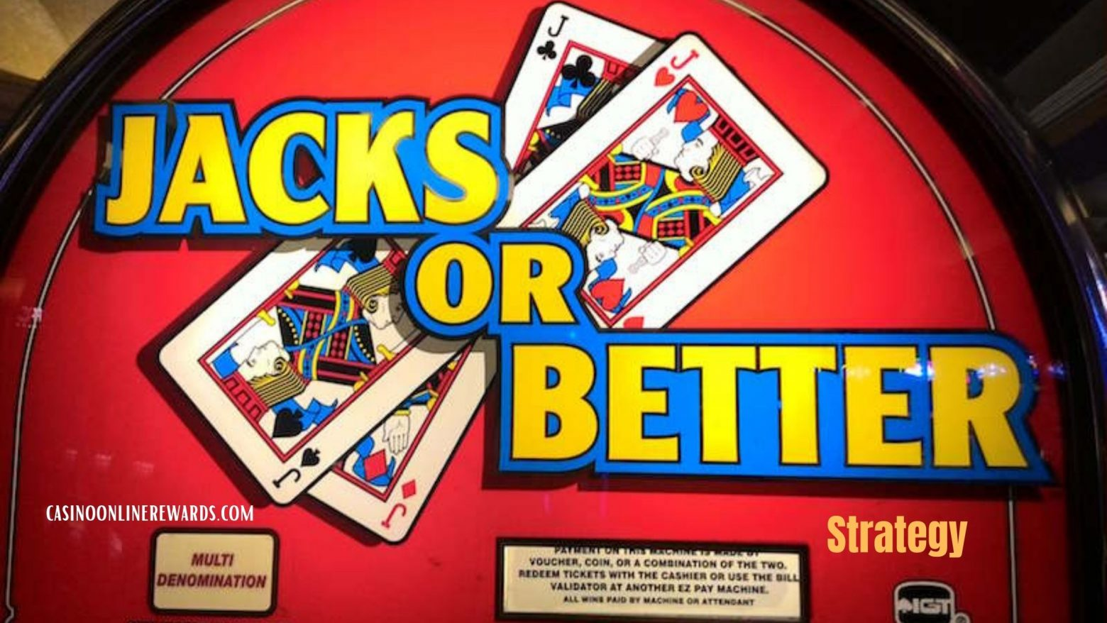 The best of Jacks or better strategy For You